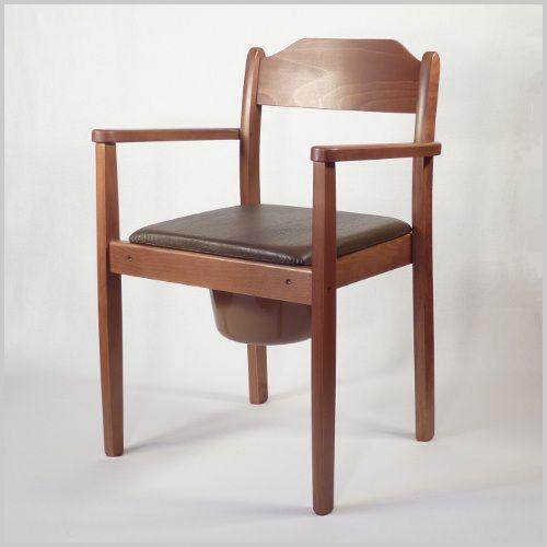toilettenstuhl holz dunkel mit hygienetopf. Black Bedroom Furniture Sets. Home Design Ideas